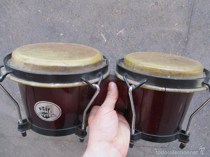 Instrumentos musicales: 2 Tambores unidos de madera y piel de marca One Rhythm - Foto 5 - 57565249