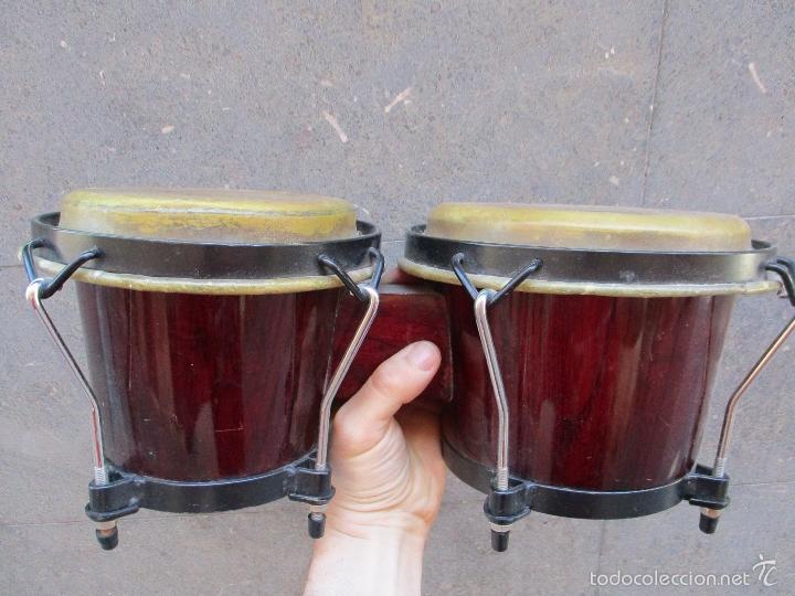 Instrumentos musicales: 2 Tambores unidos de madera y piel de marca One Rhythm - Foto 6 - 57565249