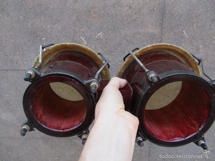 Instrumentos musicales: 2 Tambores unidos de madera y piel de marca One Rhythm - Foto 7 - 57565249