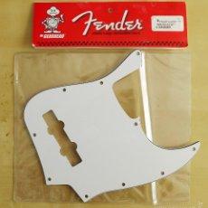 Instrumentos musicales: PICKGUARD ORIGINAL FENDER USA WHITE JAZZ BASS 10 HOLES TRES CAPAS. Lote 58098819