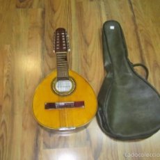 Instrumentos musicales: BANDURRIA CON FUNDA MARCA CONTRERAS - LIGERO GOLPE, VER FOTOS - FUNCIONANDO. Lote 100021275