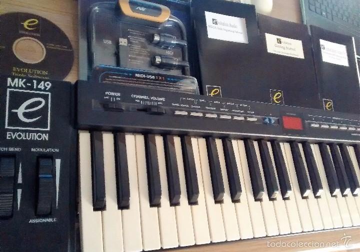 TECLADO MIDI EVOLUTION MK149 + CABLE USB (Música - Instrumentos Musicales - Teclados Eléctricos y Digitales)