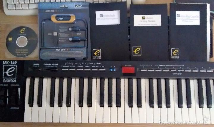 Instrumentos musicales: TECLADO MIDI EVOLUTION MK149 + CABLE USB - Foto 2 - 221441547