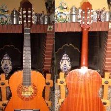 Instrumentos musicales: ANTIGUA GUITARRA FLAMENCA MARCA ADMIRA MODELO INFANTE MIDE 93,5 CM. DE ALTA HECHA A MANO. Lote 58606989