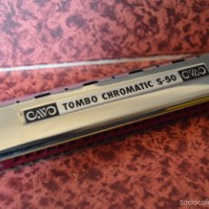 Instrumentos musicales: MAGNÍFICA ARMÓNICA ¨TOMBO CHROMATIC HARMONICA S50¨. JAPÓN, PERFECTA,. Lote 58609566
