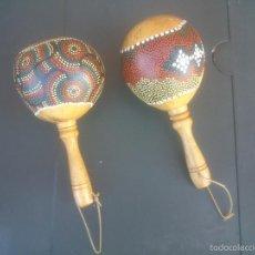 Instrumentos musicales: 2 MARACAS AUTENTICAS DE CALABAZA . Lote 58963090