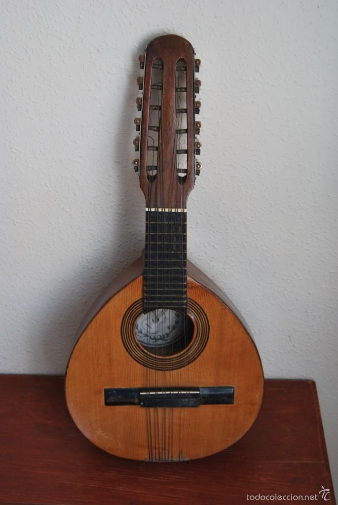ANTIGUA BANDURRIA - FÁBRICA DE GUITARRAS VILSOR - VALENCIA (Música - Instrumentos Musicales - Cuerda Antiguos)