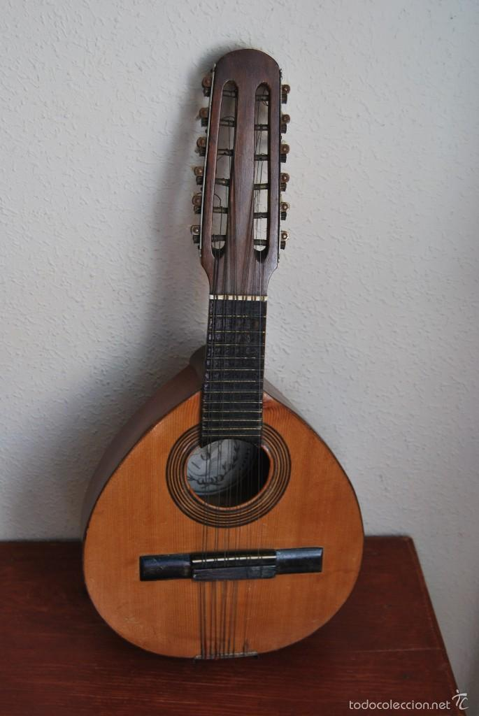 Instrumentos musicales: ANTIGUA BANDURRIA - FÁBRICA DE GUITARRAS VILSOR - VALENCIA - Foto 2 - 60010635