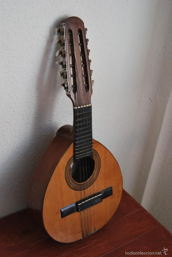 Instrumentos musicales: ANTIGUA BANDURRIA - FÁBRICA DE GUITARRAS VILSOR - VALENCIA - Foto 3 - 60010635