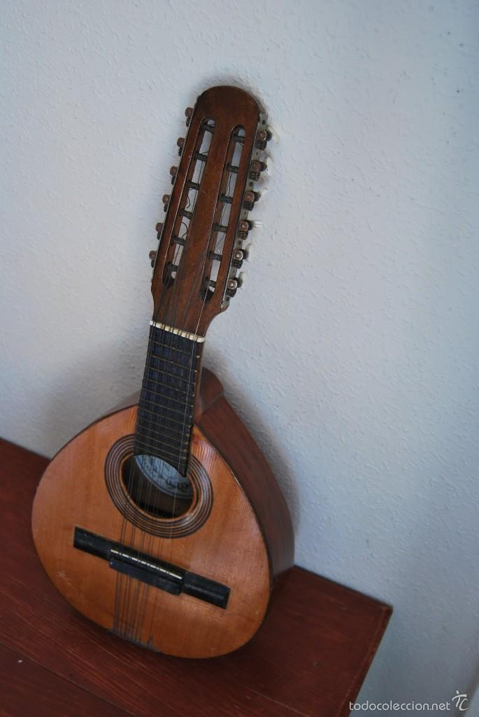 Instrumentos musicales: ANTIGUA BANDURRIA - FÁBRICA DE GUITARRAS VILSOR - VALENCIA - Foto 4 - 60010635