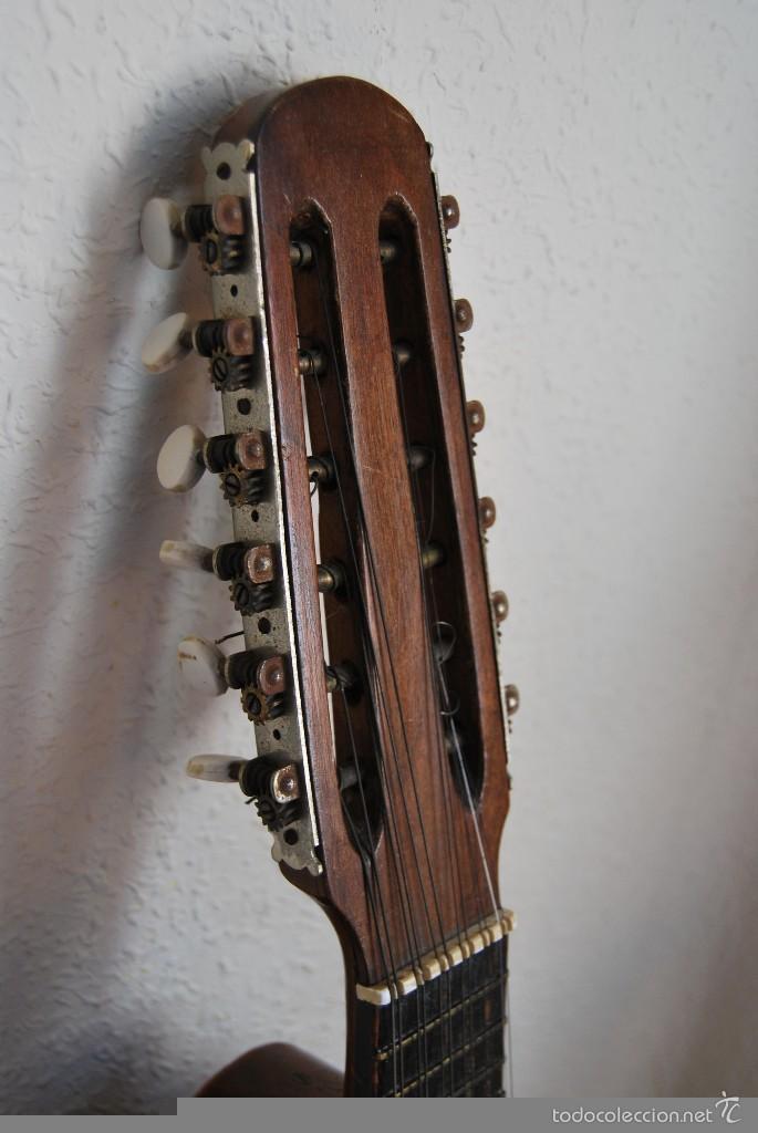 Instrumentos musicales: ANTIGUA BANDURRIA - FÁBRICA DE GUITARRAS VILSOR - VALENCIA - Foto 5 - 60010635