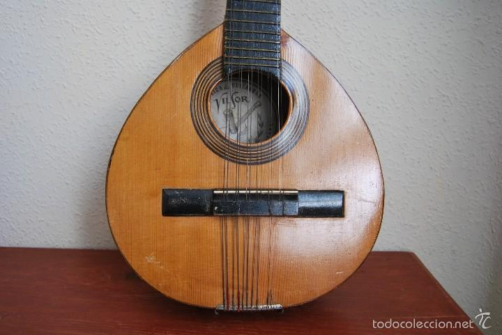 Instrumentos musicales: ANTIGUA BANDURRIA - FÁBRICA DE GUITARRAS VILSOR - VALENCIA - Foto 7 - 60010635