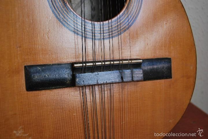 Instrumentos musicales: ANTIGUA BANDURRIA - FÁBRICA DE GUITARRAS VILSOR - VALENCIA - Foto 8 - 60010635