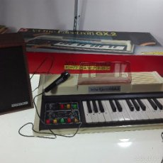 Instrumentos musicales: ESPECTACULAR ORGANO O TECLADO A-ONE ELECTRON GX.2 - ALTAVOZ - MICRO - FUNCIONANDO - 74 X 31 CM -. Lote 60207407
