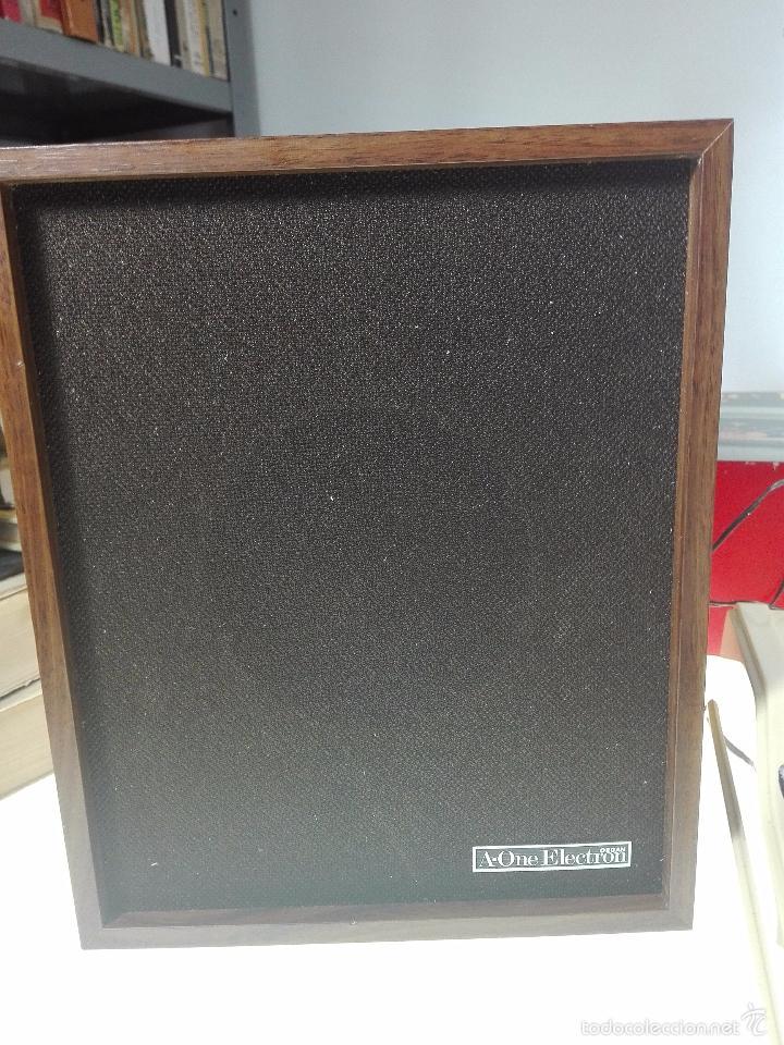 Instrumentos musicales: ESPECTACULAR ORGANO O TECLADO A-ONE ELECTRON GX.2 - ALTAVOZ - MICRO - FUNCIONANDO - 74 X 31 CM - - Foto 5 - 60207407