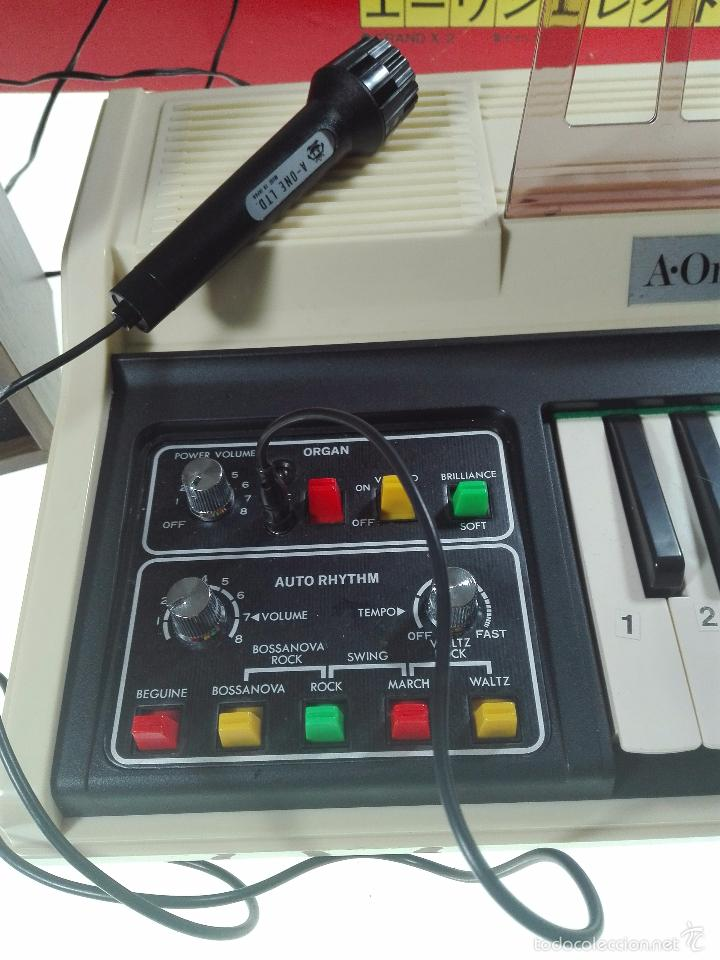 Instrumentos musicales: ESPECTACULAR ORGANO O TECLADO A-ONE ELECTRON GX.2 - ALTAVOZ - MICRO - FUNCIONANDO - 74 X 31 CM - - Foto 6 - 60207407