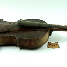 Instrumentos musicales: ANTIGUO VIOLÍN A RESTAURAR, 55 CM. DE LARGO TOTAL, VER FOTOS.. Lote 60420771