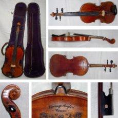 Instrumentos musicales: VIOLIN. MARCA AL FUEGO VINCENZO RUGIERI. CREMONA. 1727. ESTUCHE Y ARCO.. Lote 53870301