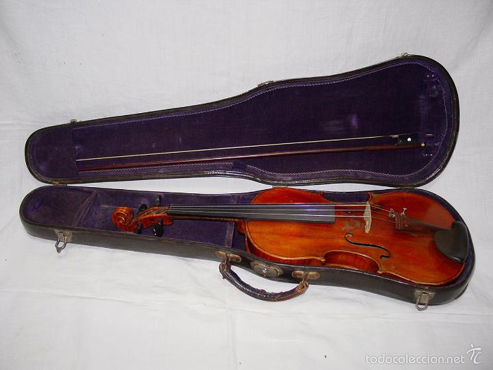 Instrumentos musicales: VIOLIN. MARCA AL FUEGO VINCENZO RUGIERI. CREMONA. 1727. ESTUCHE Y ARCO. - Foto 2 - 53870301