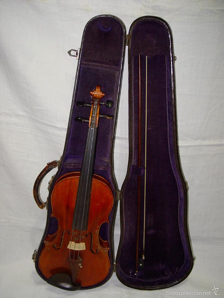 Instrumentos musicales: VIOLIN. MARCA AL FUEGO VINCENZO RUGIERI. CREMONA. 1727. ESTUCHE Y ARCO. - Foto 3 - 53870301