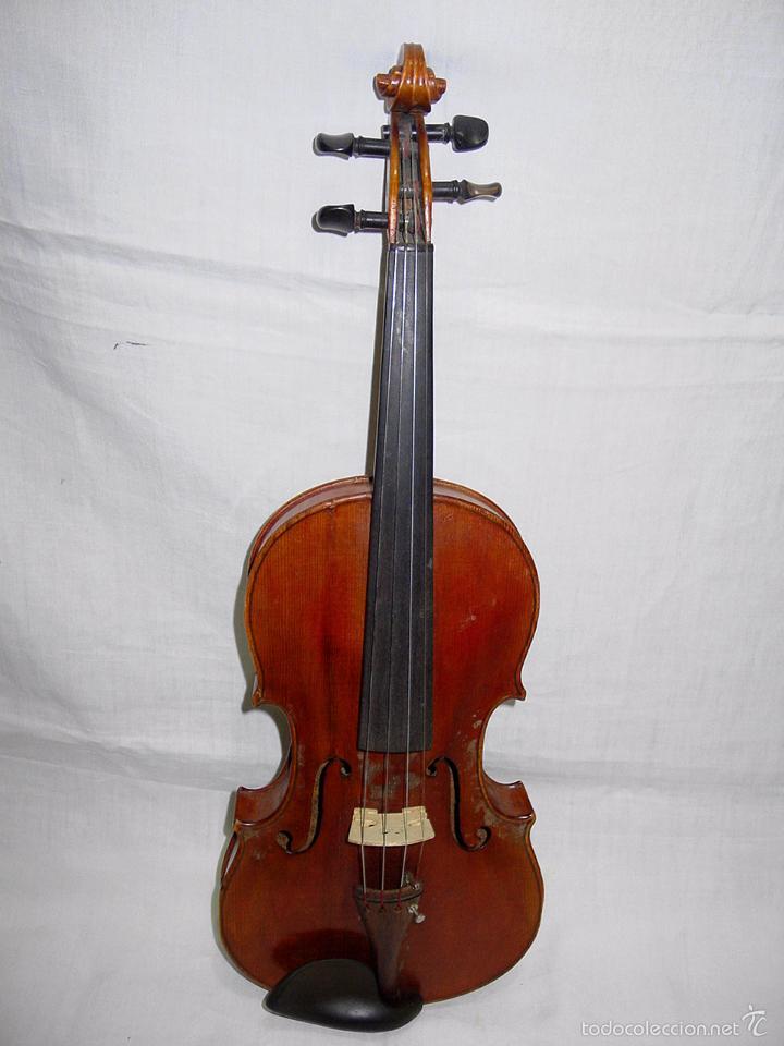 Instrumentos musicales: VIOLIN. MARCA AL FUEGO VINCENZO RUGIERI. CREMONA. 1727. ESTUCHE Y ARCO. - Foto 4 - 53870301