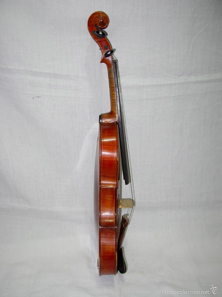 Instrumentos musicales: VIOLIN. MARCA AL FUEGO VINCENZO RUGIERI. CREMONA. 1727. ESTUCHE Y ARCO. - Foto 5 - 53870301