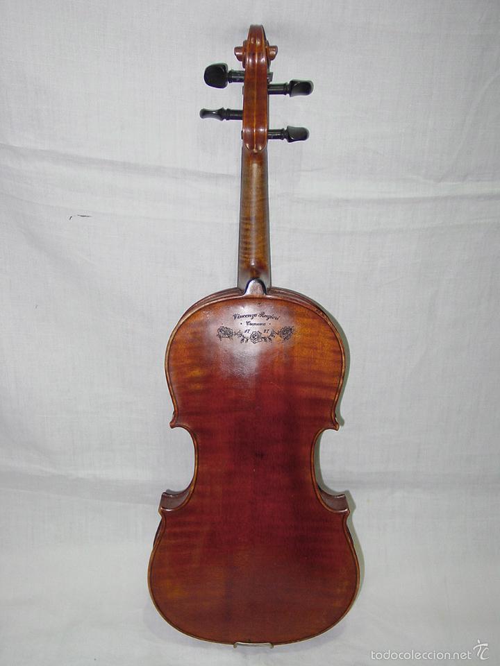 Instrumentos musicales: VIOLIN. MARCA AL FUEGO VINCENZO RUGIERI. CREMONA. 1727. ESTUCHE Y ARCO. - Foto 6 - 53870301