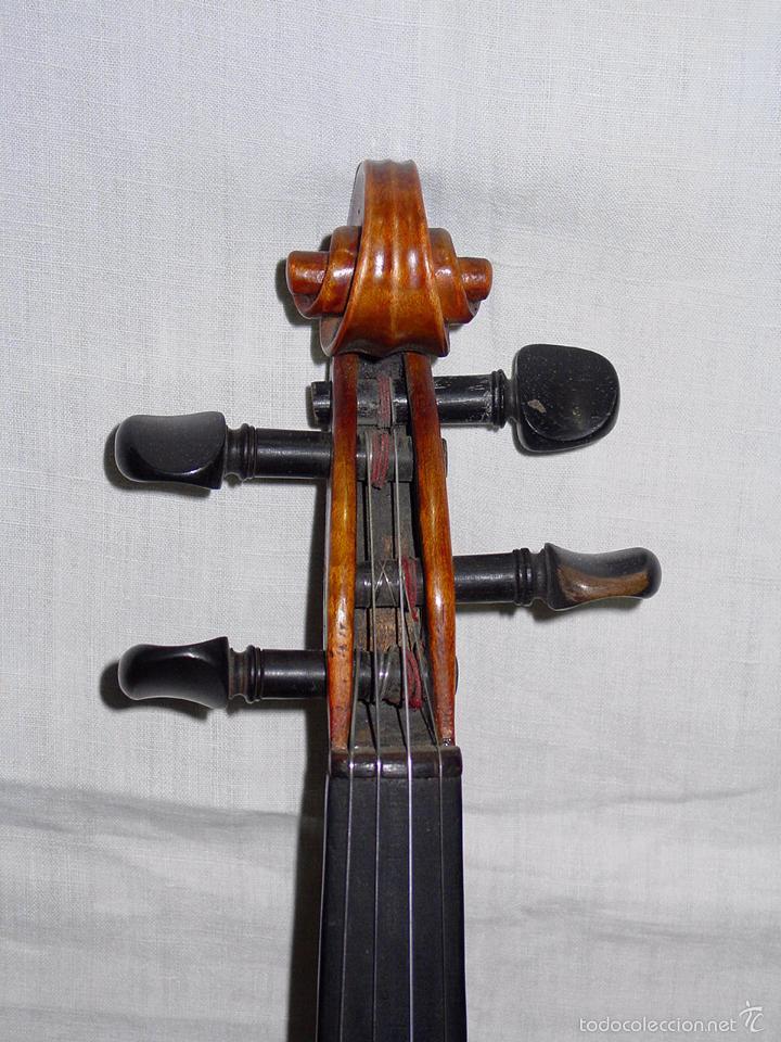 Instrumentos musicales: VIOLIN. MARCA AL FUEGO VINCENZO RUGIERI. CREMONA. 1727. ESTUCHE Y ARCO. - Foto 7 - 53870301