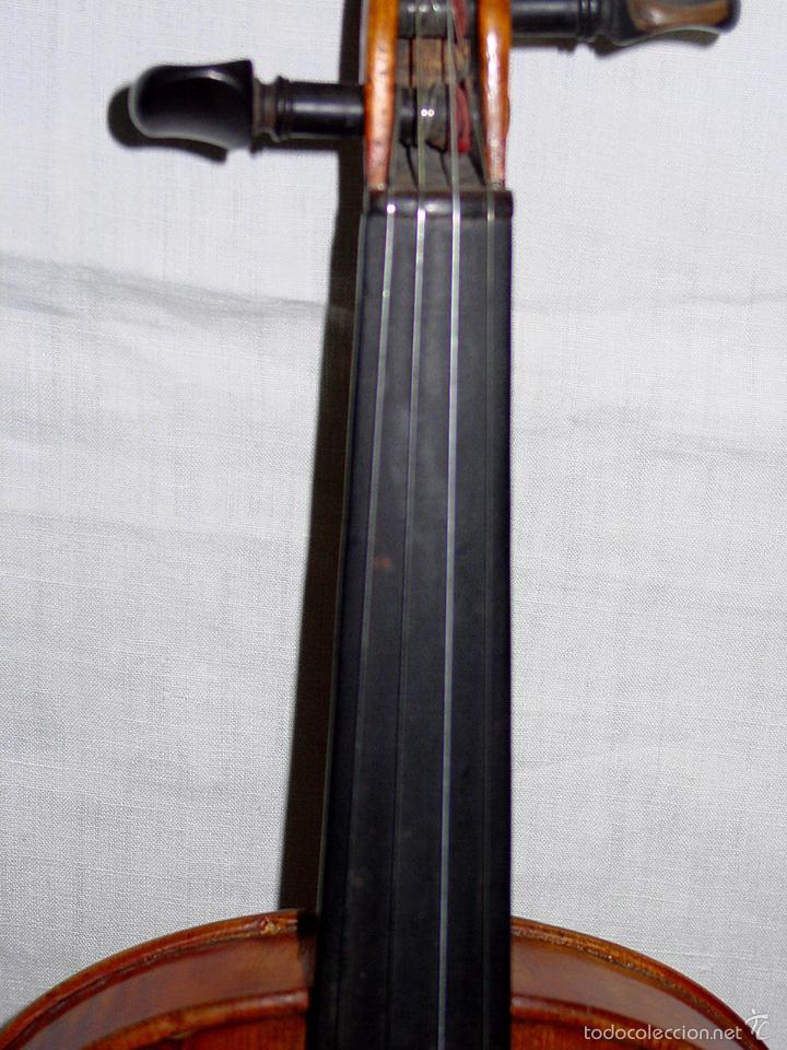Instrumentos musicales: VIOLIN. MARCA AL FUEGO VINCENZO RUGIERI. CREMONA. 1727. ESTUCHE Y ARCO. - Foto 8 - 53870301