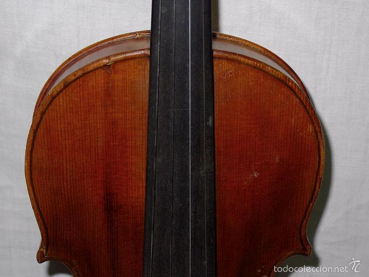 Instrumentos musicales: VIOLIN. MARCA AL FUEGO VINCENZO RUGIERI. CREMONA. 1727. ESTUCHE Y ARCO. - Foto 9 - 53870301