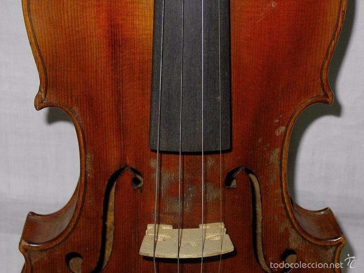 Instrumentos musicales: VIOLIN. MARCA AL FUEGO VINCENZO RUGIERI. CREMONA. 1727. ESTUCHE Y ARCO. - Foto 10 - 53870301