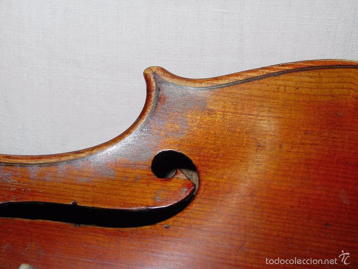 Instrumentos musicales: VIOLIN. MARCA AL FUEGO VINCENZO RUGIERI. CREMONA. 1727. ESTUCHE Y ARCO. - Foto 11 - 53870301