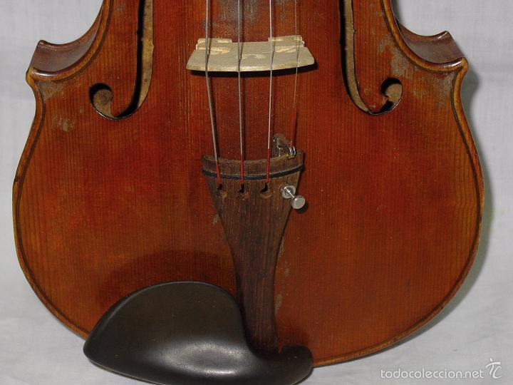 Instrumentos musicales: VIOLIN. MARCA AL FUEGO VINCENZO RUGIERI. CREMONA. 1727. ESTUCHE Y ARCO. - Foto 12 - 53870301