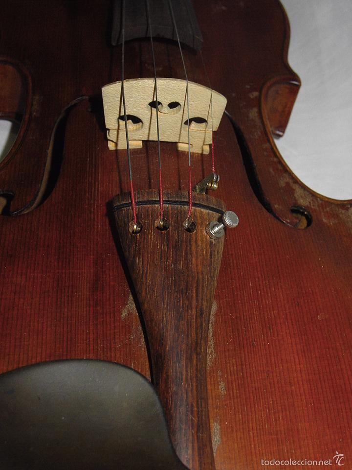 Instrumentos musicales: VIOLIN. MARCA AL FUEGO VINCENZO RUGIERI. CREMONA. 1727. ESTUCHE Y ARCO. - Foto 13 - 53870301