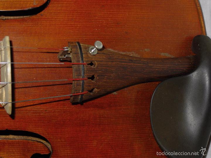 Instrumentos musicales: VIOLIN. MARCA AL FUEGO VINCENZO RUGIERI. CREMONA. 1727. ESTUCHE Y ARCO. - Foto 14 - 53870301