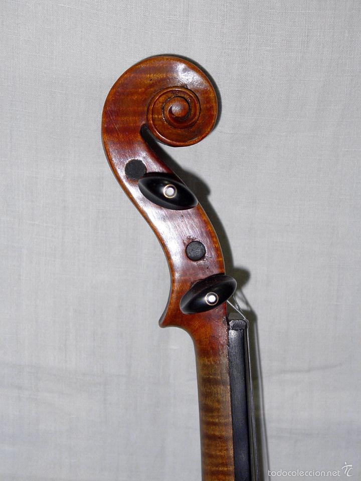 Instrumentos musicales: VIOLIN. MARCA AL FUEGO VINCENZO RUGIERI. CREMONA. 1727. ESTUCHE Y ARCO. - Foto 16 - 53870301