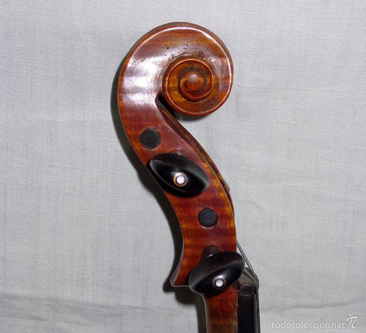 Instrumentos musicales: VIOLIN. MARCA AL FUEGO VINCENZO RUGIERI. CREMONA. 1727. ESTUCHE Y ARCO. - Foto 17 - 53870301