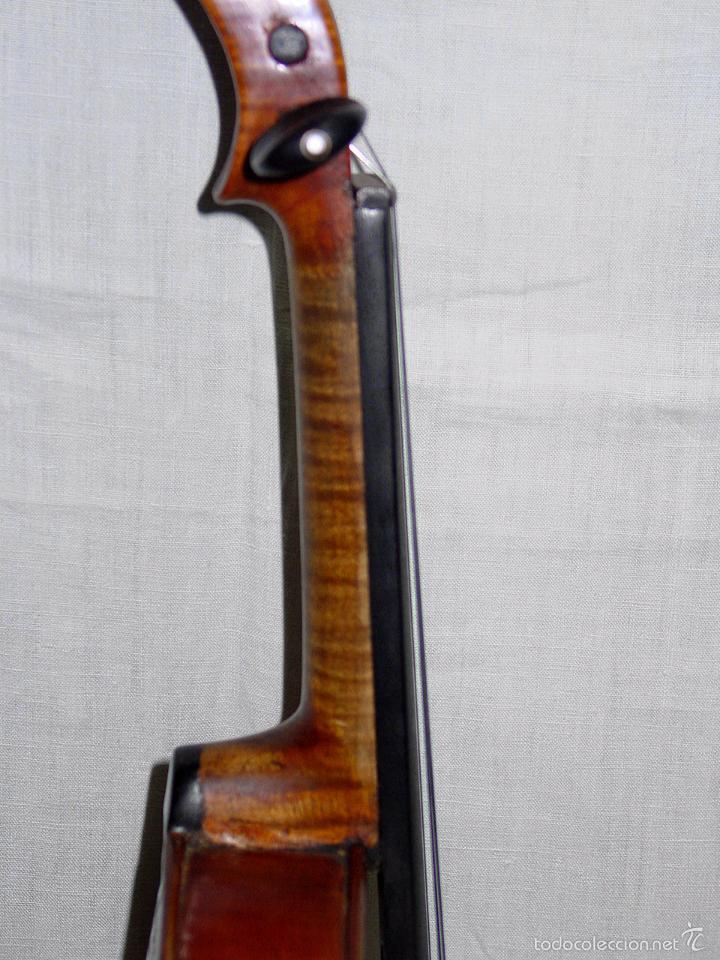 Instrumentos musicales: VIOLIN. MARCA AL FUEGO VINCENZO RUGIERI. CREMONA. 1727. ESTUCHE Y ARCO. - Foto 19 - 53870301