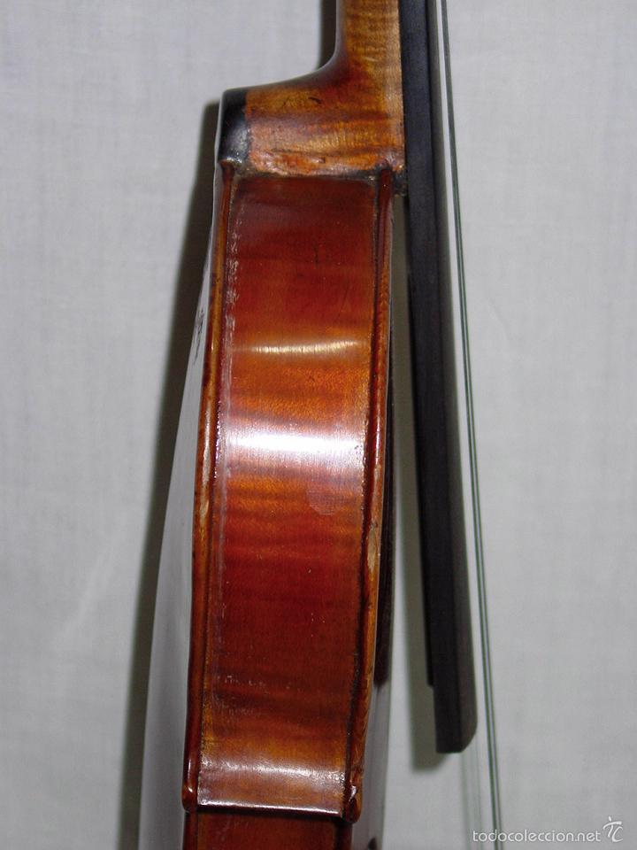 Instrumentos musicales: VIOLIN. MARCA AL FUEGO VINCENZO RUGIERI. CREMONA. 1727. ESTUCHE Y ARCO. - Foto 20 - 53870301