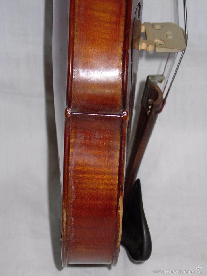 Instrumentos musicales: VIOLIN. MARCA AL FUEGO VINCENZO RUGIERI. CREMONA. 1727. ESTUCHE Y ARCO. - Foto 21 - 53870301