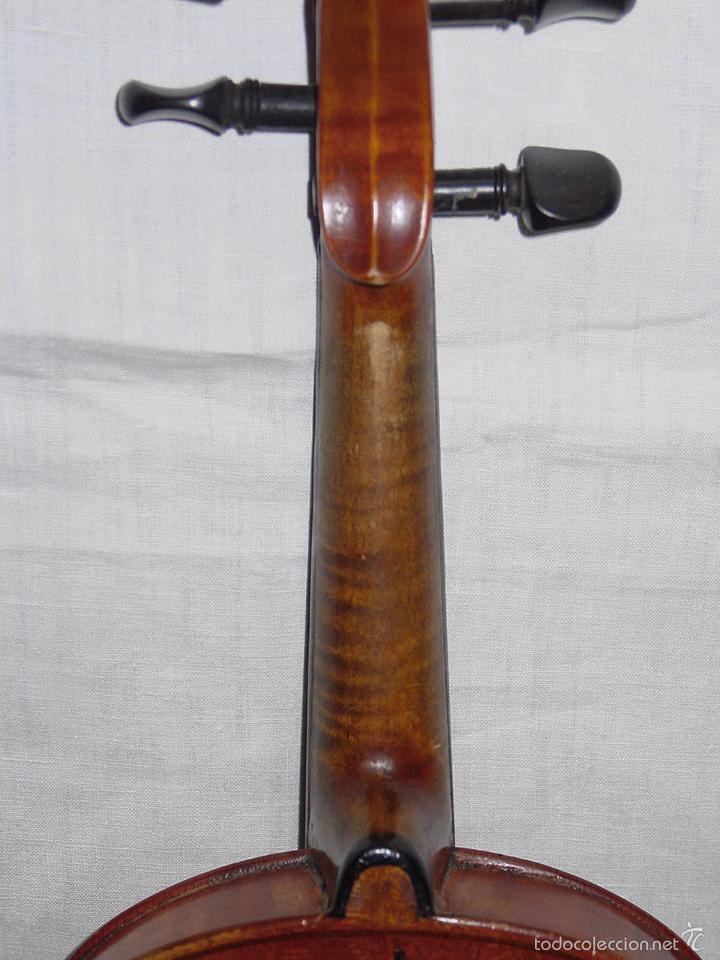Instrumentos musicales: VIOLIN. MARCA AL FUEGO VINCENZO RUGIERI. CREMONA. 1727. ESTUCHE Y ARCO. - Foto 23 - 53870301