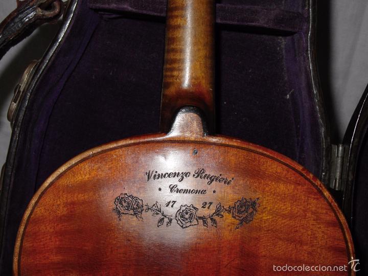 Instrumentos musicales: VIOLIN. MARCA AL FUEGO VINCENZO RUGIERI. CREMONA. 1727. ESTUCHE Y ARCO. - Foto 24 - 53870301