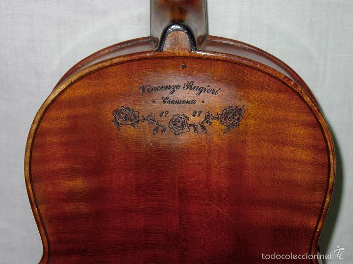 Instrumentos musicales: VIOLIN. MARCA AL FUEGO VINCENZO RUGIERI. CREMONA. 1727. ESTUCHE Y ARCO. - Foto 25 - 53870301