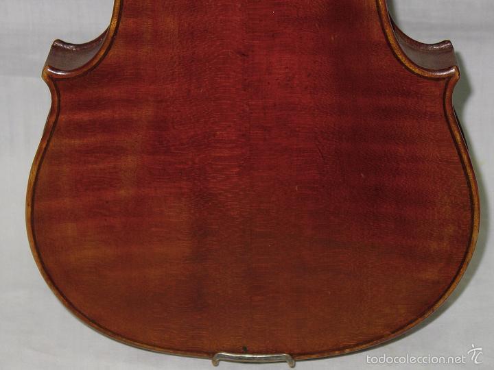 Instrumentos musicales: VIOLIN. MARCA AL FUEGO VINCENZO RUGIERI. CREMONA. 1727. ESTUCHE Y ARCO. - Foto 27 - 53870301