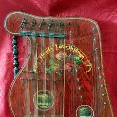 Instrumentos musicales: PRECIOSA CITARINA DE MADERA EBONIZADA Y PINTADA. MARCA 'HOPF'S JUBELKLÄNGE', GERMANY. BUEN ESTADO.. Lote 60464823