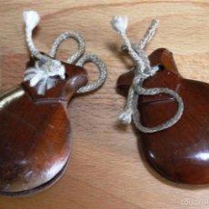 Instrumentos musicales: ANTIGUAS *CASTAÑUELAS INFANTILES DE MADERA*. Lote 61314655