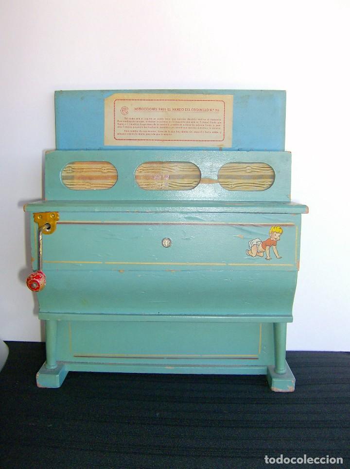 Instrumentos musicales: ORGANILLO DE MADERA REIG AÑOS 40 ENVÍO CERTIFICADO INCLUIDO EN EL PRECIO - Foto 2 - 61474359