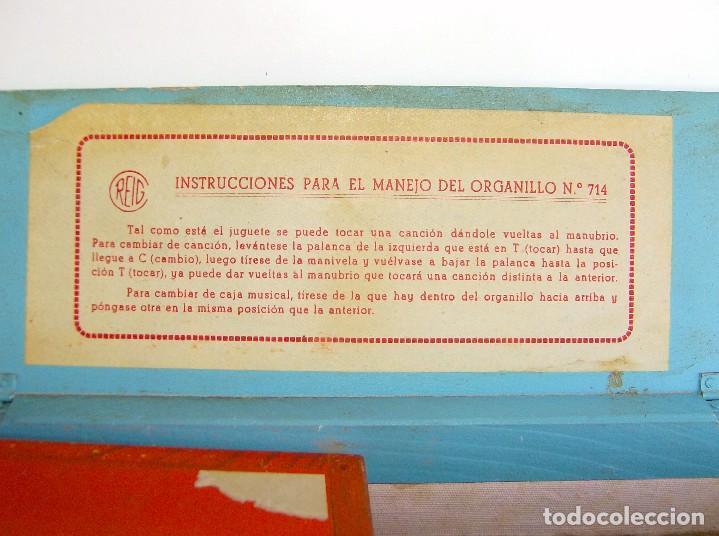 Instrumentos musicales: ORGANILLO DE MADERA REIG AÑOS 40 ENVÍO CERTIFICADO INCLUIDO EN EL PRECIO - Foto 12 - 61474359