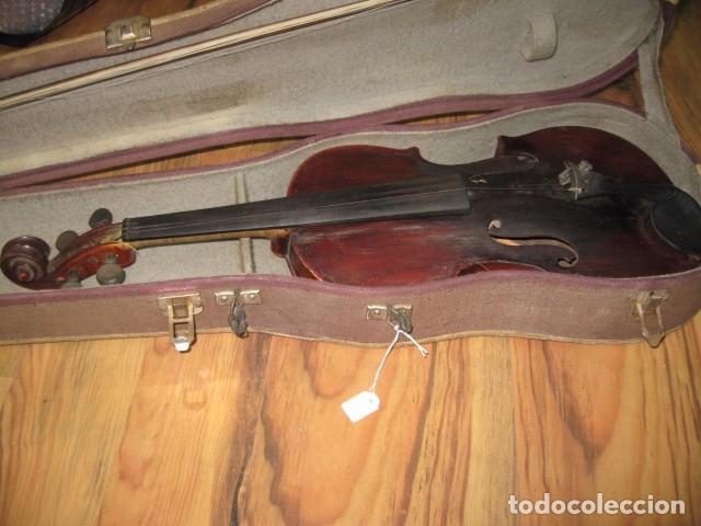 OCASIÓN VIOLÍN ANTIGUO CON FUNDA PARA RESTAURAR MEDIDA 59 CM.- MADERA BUEN ESTADO (Música - Instrumentos Musicales - Cuerda Antiguos)