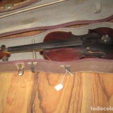 Instrumentos musicales: OCASIÓN VIOLÍN ANTIGUO CON FUNDA PARA RESTAURAR MEDIDA 59 CM.- MADERA BUEN ESTADO. Lote 63677799